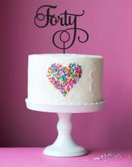 Fortieth Birthday Cake Topper