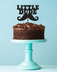 Acrylic Cake Topper - Little Dude Moustache Man