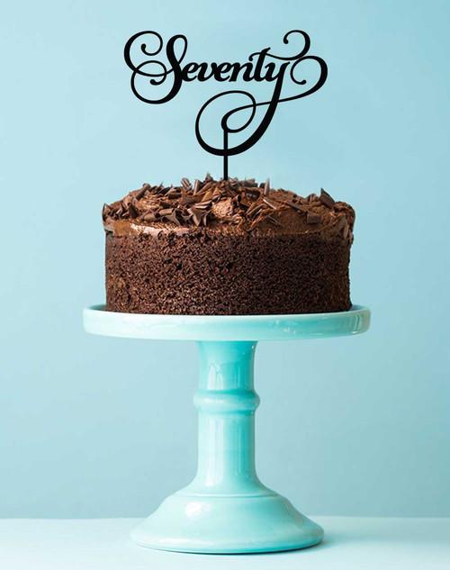 70th Seventieth Birthday Cake Topper