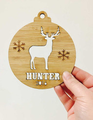 Personalised wooden christmas ornaments