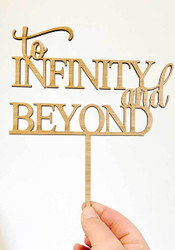 To Infinity and Beyond cake topper