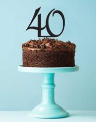 40 Birthday Cake Topper