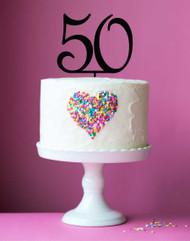 50 birthday cake topper