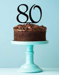 80 Birthday Cake Topper
