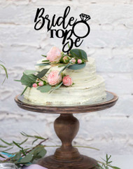 "Bridal Shower ""Bride to Be"" Cake Topper"