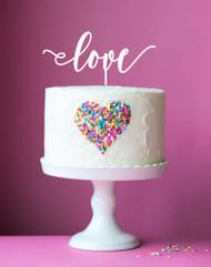 Love acrylic cake topper, cake decoration