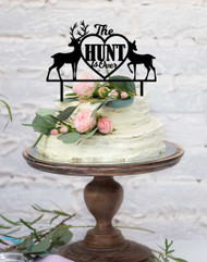 The Hunt is Over Deer Wedding Cake Topper