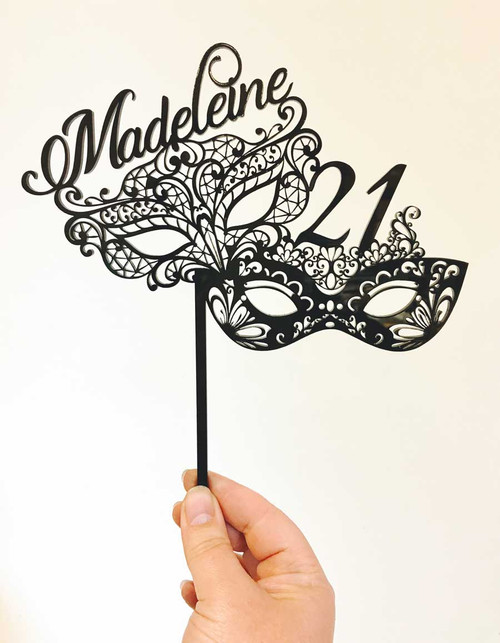 Masquerade Party Mask Cake Topper