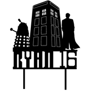 Dr Who Birthday Cake Topper