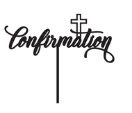Generic Confirmation with Cross Cake Topper