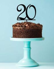 Number 20 cake topper