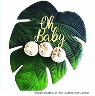 Oh Baby Cake Topper, Photo Courtesy of Flo's Cakes & Cookies