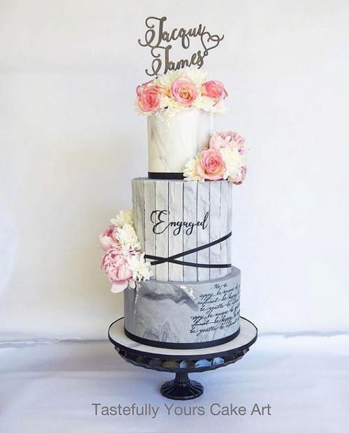 Beautiful custom wedding cake toppers
