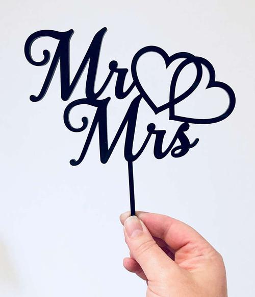 #3 Mr & Mrs Acrylic Cake Topper