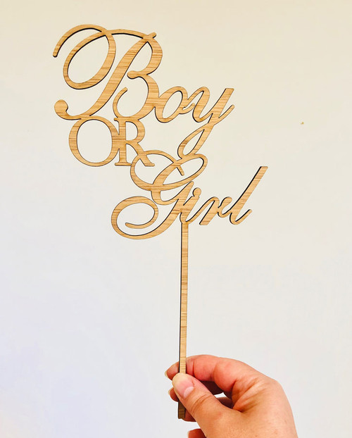 Boy or Girl Gender Reveal Baby Shower Cake Topper