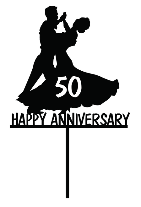 Anniversary Ballroom Dancing Couple cake topper