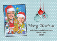 Christmas Personalised Cariacture Party Invitation