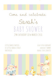 Baby Shower Baby animals invitations