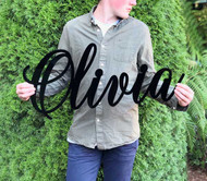 Large lasercut name or word sign