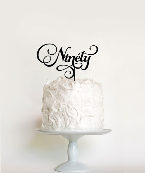 90th Birthday Cake Topper decoration