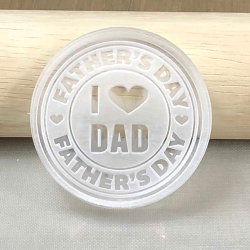 Fathers Day generic cookie and fondant stamp