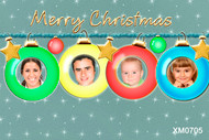 Christmas ornaments themed photo card