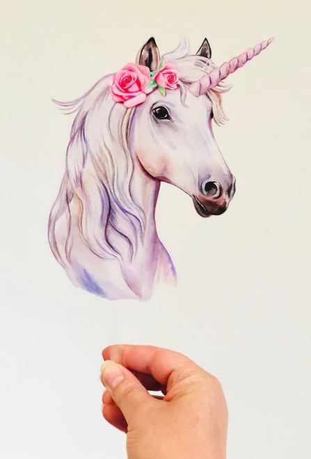 Unicorn printed acrylic cake topper
