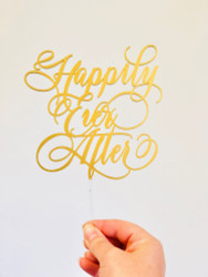 Happily Ever After Wedding Cake Toppers