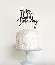 Modern Happy Birthday Cake Topper