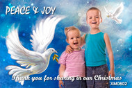 Custom Christmas card featuring dove of peace