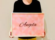 Personalised wooden keepsake box