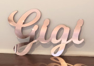 Rose Gold Mirror Name Plaque