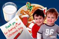 Milk and Cookies left out for Santa themed Christmas Card