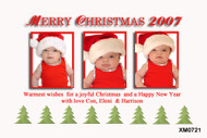 Personalised photo Christmas card with Christmas tree theme