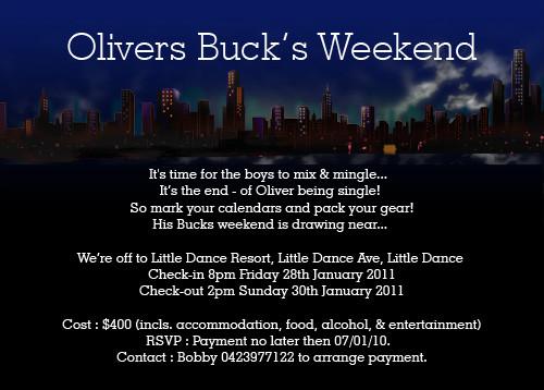 Bucks Weekend Invitations Boys Weekend Away Invite Invitation – Hens Party Invitations Australia