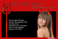 Devilish Night Hens Party Invitations