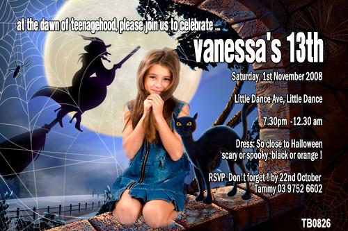 Halloween Dance Party Invitations