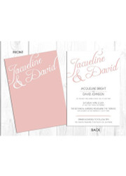 Modern Scrip Wedding Invitation