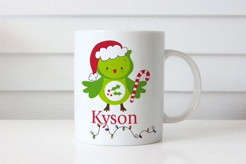 Christmas gift personalised mug with name. Australian online shop delivers to Melbourne, Sydney, Brisbane