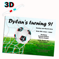 3D Soccer Party Invitation