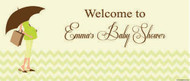 Personalized baby shower banner - green mum to be theme - Delivered to Melbourne
