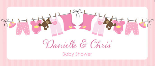 personalised-pink-baby-clothes-themed-baby-shower-banner