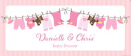 Custom baby shower banner - pink baby clothes theme - Aussie website