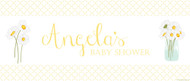 Custom baby shower banners - yellow daisies theme - buy online in Brisbane