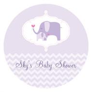 Baby Shower Cake Icing - Lilac Elephant