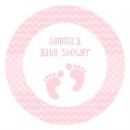 Pink Footprints Baby Shower Edible Cookie, Cupcake & Cake Icing