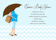 Blue Mummy to Be Baby Shower Invitations