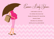 Pink Mummy to Be Baby Shower Invitations