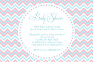 Gender Reveal Baby Shower Invitations