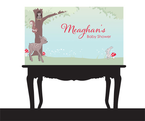 personalised-baby-forest-animals-themed-baby-shower-banner